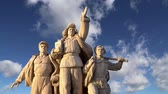 göksel : Revolutionary statues at Tiananmen Square in Beijing, China