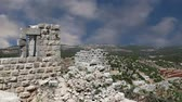 restauração : The ayyubid castle of Ajloun in northern Jordan, built in the 12th century, Middle East