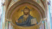 ??ken : The Christ Pantokrator, Cathedral-Basilica of Monreale, is a Roman Catholic church in Monreale, Sicily, southern Italy Stock Footage