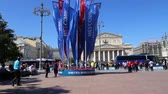 powitanie : Welcome flags on Moscow streets in honor of the 2018 FIFA World Cup in Russia Wideo