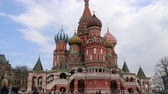 храм : Saint Basil cathedral (Temple of Basil the Blessed), Red Square, Moscow, Russia
