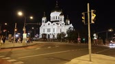 salvador : Christ the Savior Cathedral (at night), Moscow, Russia