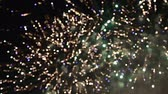 gece vakti : Celebratory colorful fireworks exploding in the skies