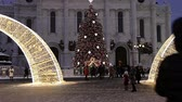クリスマスタイム : Christmas (New Year holidays) decoration in Moscow (at night), Russia -