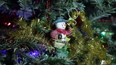 toys : Beautiful christmas tree with decorative chritmas toys