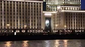 пешеход : The Ministry of Defense of the Russian Federation (Minoboron), at night ... Moscow, Russia