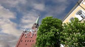 eclecticism : Troitskaya Tower (Trinity Tower) against the sky. Inside of Moscow Kremlin, Russia (day).