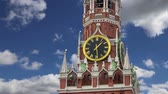 renesans : Spasskaya Tower against the sky. Moscow Kremlin, Russia (day)
