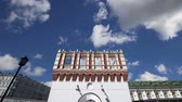 renesans : Kutafya Tower against the sky. Inside of Moscow Kremlin, Russia (day) Wideo