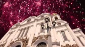história : Fireworks over the Christ the Savior Cathedral, Moscow, Russia. Vídeos