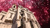salvador : Fireworks over the Christ the Savior Cathedral, Moscow, Russia. Vídeos