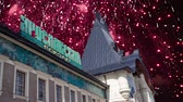 방문객 : Fireworks over the Yaroslavsky railway station building (Written Yaroslavsky railway station in Russian), Moscow, Russia