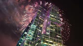 Fireworks over the Skyscrapers of the International Business Center (City), Moscow, Russia 影像素材