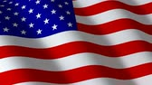 estados unidos : Flag american, seamless loop Stock Footage