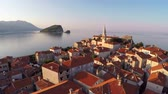telha : Flying above the old town of Budva, Montenegro - aerial photography
