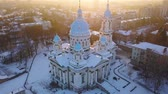 bell tower : Aerial view of the Trinity Orthodox Cathedral. Sumy, Ukraine