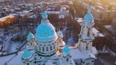 cúpulas : Aerial view of the Trinity Orthodox Cathedral. Sumy, Ukraine