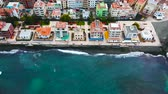 kanári szigetek : View from the height of the city on the Atlantic coast. Tenerife, Canary Islands, Spain Stock mozgókép