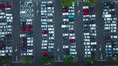 сортировать : Aerial view of car parking Стоковые видеозаписи