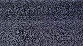 transmitir : Television static noise, black, white Stock Footage