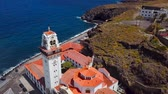 canárias : View from the height of the Basilica and townscape in Candelaria near the capital of the island - Santa Cruz de Tenerife on the Atlantic coast. Tenerife, Canary Islands, Spain Vídeos