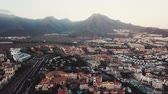 ciel : View from the height of the city of Santa Cruz de Tenerife on the Atlantic coast. Tenerife, Canary Islands, Spain