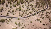 velocidade : Top view of the road with cars in the Teide National Park. Tenerife, Canary Islands, Spain