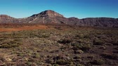 溶岩 : Aerial view of the Teide National Park, flight over the mountains and hardened lava. Tenerife, Canary Islands 動画素材
