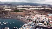небольшой : View from the height of the city on the Atlantic coast at sunset. Tenerife, Canary Islands, Spain