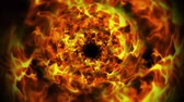 Fiery Rings Tunnel Explosion, Flames Animation, Rendering, Background, Loop