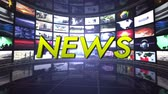 NEWS Text Animation in Monitors Room, Rendering, Background, Technology, Loop Dostupné videozáznamy