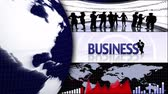 Business Montage Animation, Background, Rendering, Loop Dostupné videozáznamy