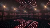 evangelho : Music Lines Waves, Room, Lights Bulbs Animation, Rendering, Background, Loop