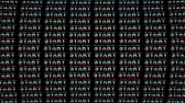 start over : START Glitch Text Animation, Rendering, Background, with Alpha Channel, Loop