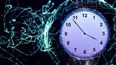 сейчас : Clock in Particles Rings Animation, Rendering, Background