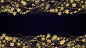 Gold Stars and Fibers Animation, Background, Rendering, Loop, 4k