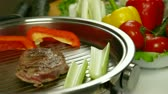 preparations :  Beef Steak Grilled With Vegetables