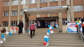 eleição : CRIMEA, SIMFEROPOL - MARCH 18, 2018: Russian presidential election in Crimea, 2018. Polling station in Simferopol. Citizens of Crimea votes for first time in Russian elections.