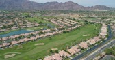 çim : Aerial Drone View of La Quinta, California