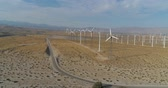 pustý : Aerial Drone View of Windmills in Palm Springs, California