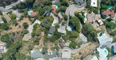 Голливуд : Aerial Drone View of Homes in Hollywood, California