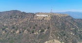 hollywood sign : Aerial Drone View of the Hollywood Sign, California