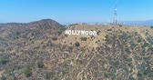 Калифорния : Aerial Drone View of the Hollywood Sign, California