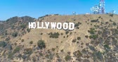 Голливуд : Aerial Drone View of the Hollywood Sign, California