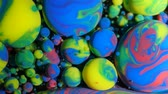 путь : Colorful Bubbles Oil Beautiful Paint Universe Color Moving Multicolored. Acrylic Paint. Fantastic Hypnotic Surface. Metamorphosis Multicolored Bubbles Of Bright Colors Moving In Paint Oil Surface.