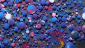 metamorfosi : Abstract Pattern Chemical Reaction Texture Liquid Paint Motion Bubble In Water Color Blue. Colorful Bubbles In Beautiful Universe Multicolor. Space Universe, Fantastic Hypnotic Surface. Closeup.