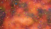 Slow Motion Bright Colors Bubbles Oil Beautiful Paint Universe Color Moving Multicolored Closeup. Acrylic Paint. Fantastic Surface. Abstract Colorful Paint Metamorphosis Structure Colorful Bubbles