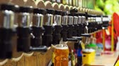 nickel : Pour beer in the store Stock Footage