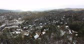 lacuna : Aerial view of Gatlinburg during winter time 4k Stock Footage