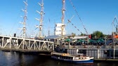 Schleswig Holstein, Germany, May 05, 2016: Harbour Birthday in Hamburg will be celebrated at the pier at the Hamburg Harbour Birthday on May 5th, 2016 Stok Video